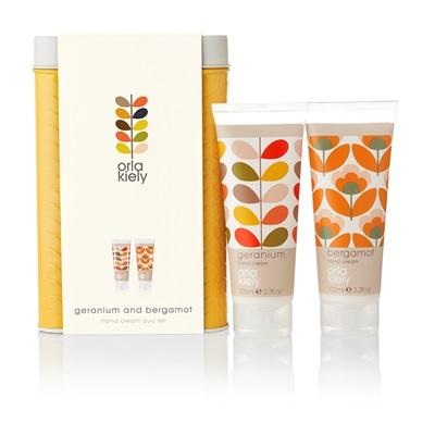 ORLA KIELY Geranium & Bergamot Hand Cream Duo Set