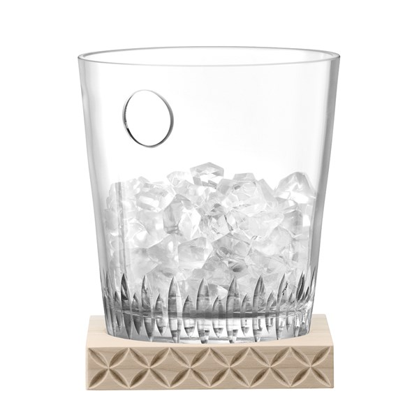 LSA International Tatra Ice Bucket with Ash Wood Base
