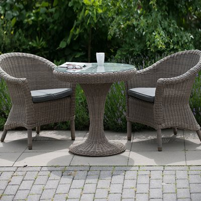CHESTER RATTAN BISTRO SET IN PURE by 4 Seasons Outdoor