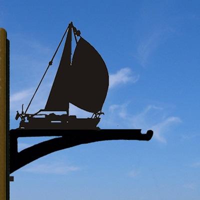 HANGING BASKET BRACKET in Amber Yacht Design