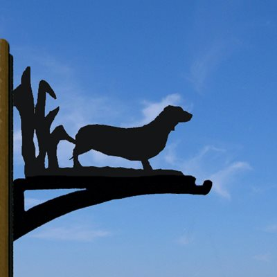 HANGING BASKET BRACKET in Dachshund Design