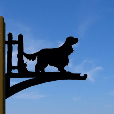 HANGING BASKET BRACKET in English Cocker Spaniel Design
