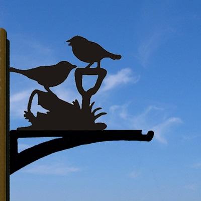 HANGING BASKET BRACKET in Friends Bird Design