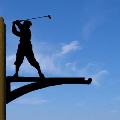 HANGING BASKET BRACKET in Golf Design