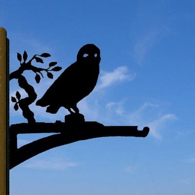 HANGING BASKET BRACKET in Owl Design