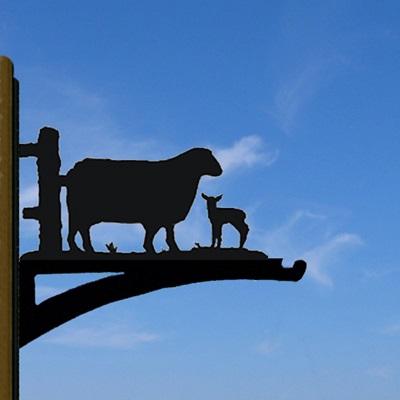 HANGING BASKET BRACKET in Sheep Design