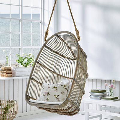 Sika Rattan Renoir Hanging Chair in Taupe