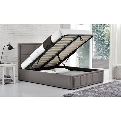 HANNOVER UPHOLSTERED OTTOMAN BED in Grey by Birlea