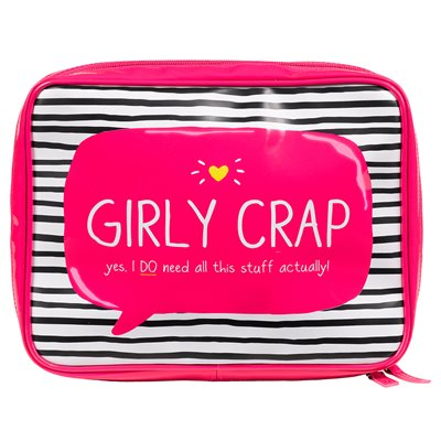 GIRLY CRAP WASH BAG from Happy Jackson