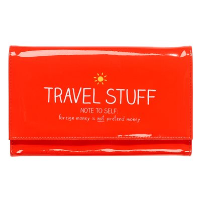 TRAVEL WALLET in Red from Happy Jackson