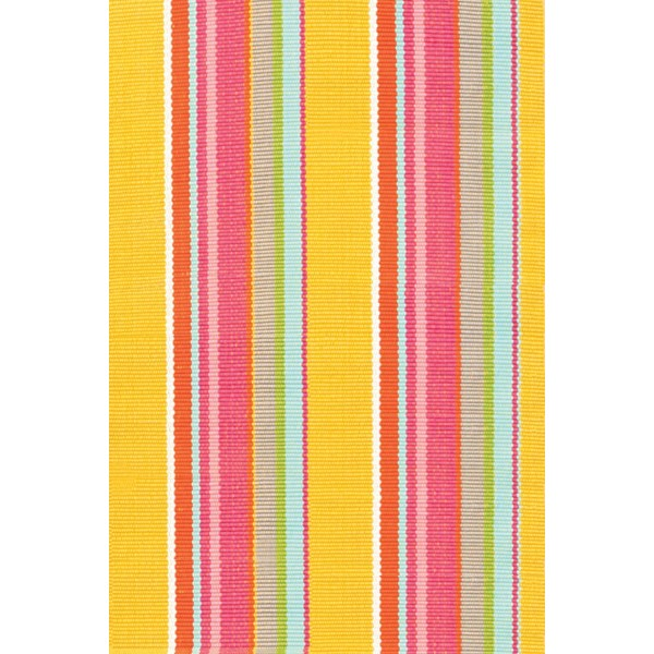 Outdoor Rug in Happy Yellow Design