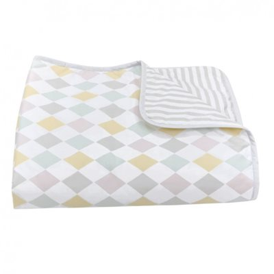 OLLI ELLA HARLEQUIN BABY BLANKET in Dawn Design