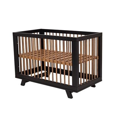 Harper Wooden Baby Cot In Black