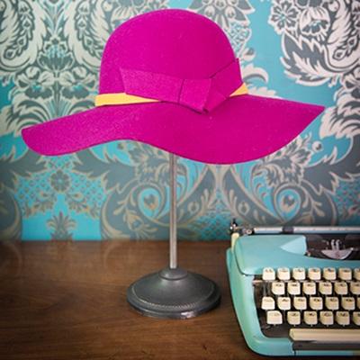 SHELLEY Pure Wool Designer Women's Hat in  Magenta
