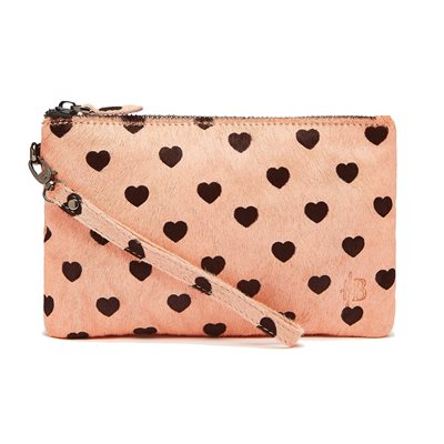 MIGHTY PURSE in Baby Pink Heart Pony Fur