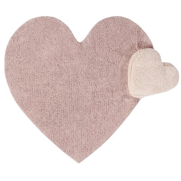 Pink Heart Shaped Girls Bedroom Rug