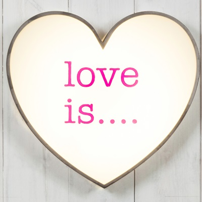 LIGHT BOX in Love is Design