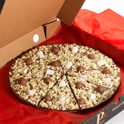 Honeycomb & Marshmallow Chocolate Pizza
