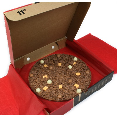 "7"" HEAVENLY HONEYCOMB PIZZA by The Gourmet Chocolate Pizza Company"