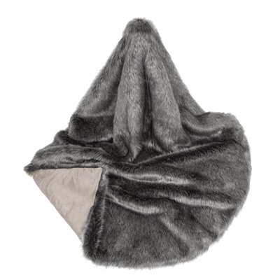 LADY GREY Signature Faux Fur Throw by Helen Moore