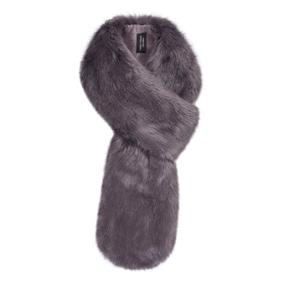 Helen Moore Faux Fur Loop Scarf in Steel