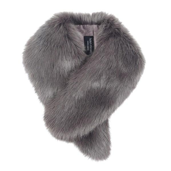 Helen Moore Faux Fur Vintage Collar Scarf in Steel