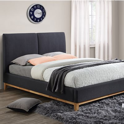 HELSINKI UPHOLSTERED BED in Dark Grey by Birlea