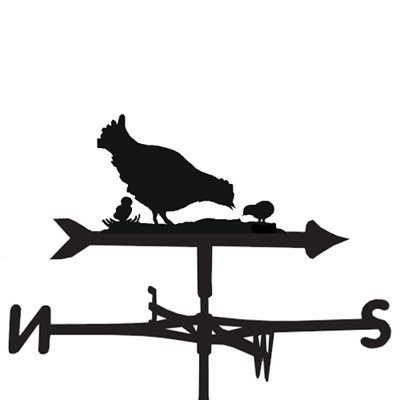 WEATHERVANE in Hen with Chicks Design