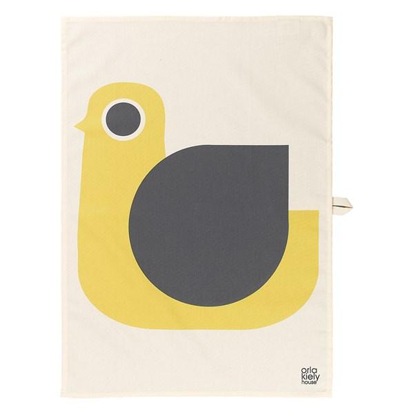 Orla Kiely Set of 2 Tea Towels in Hen Print