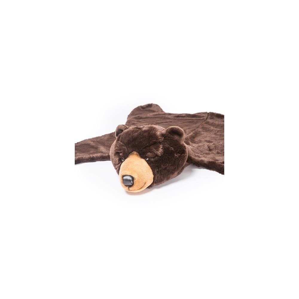 rug com dp dining woodland amazon plush animal kitchen bear black