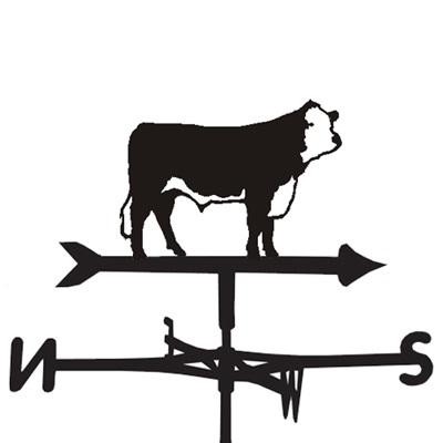 WEATHERVANE in Hereford Cow Design