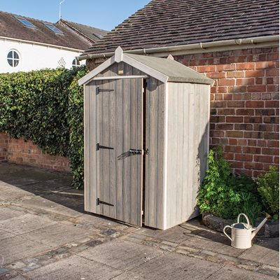 ROWLINSON HERITAGE 4 x 3 GARDEN SHED in Washed Grey