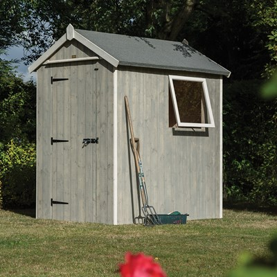 ROWLINSON HERITAGE 6 X 4 GARDEN SHED In Washed Grey