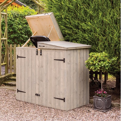 ROWLINSON HERITAGE WHEELIE BIN STORAGE in Washed Grey