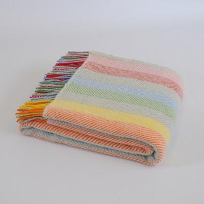 TweedMill PURE NEW WOOL THROW in Rainbow Grey