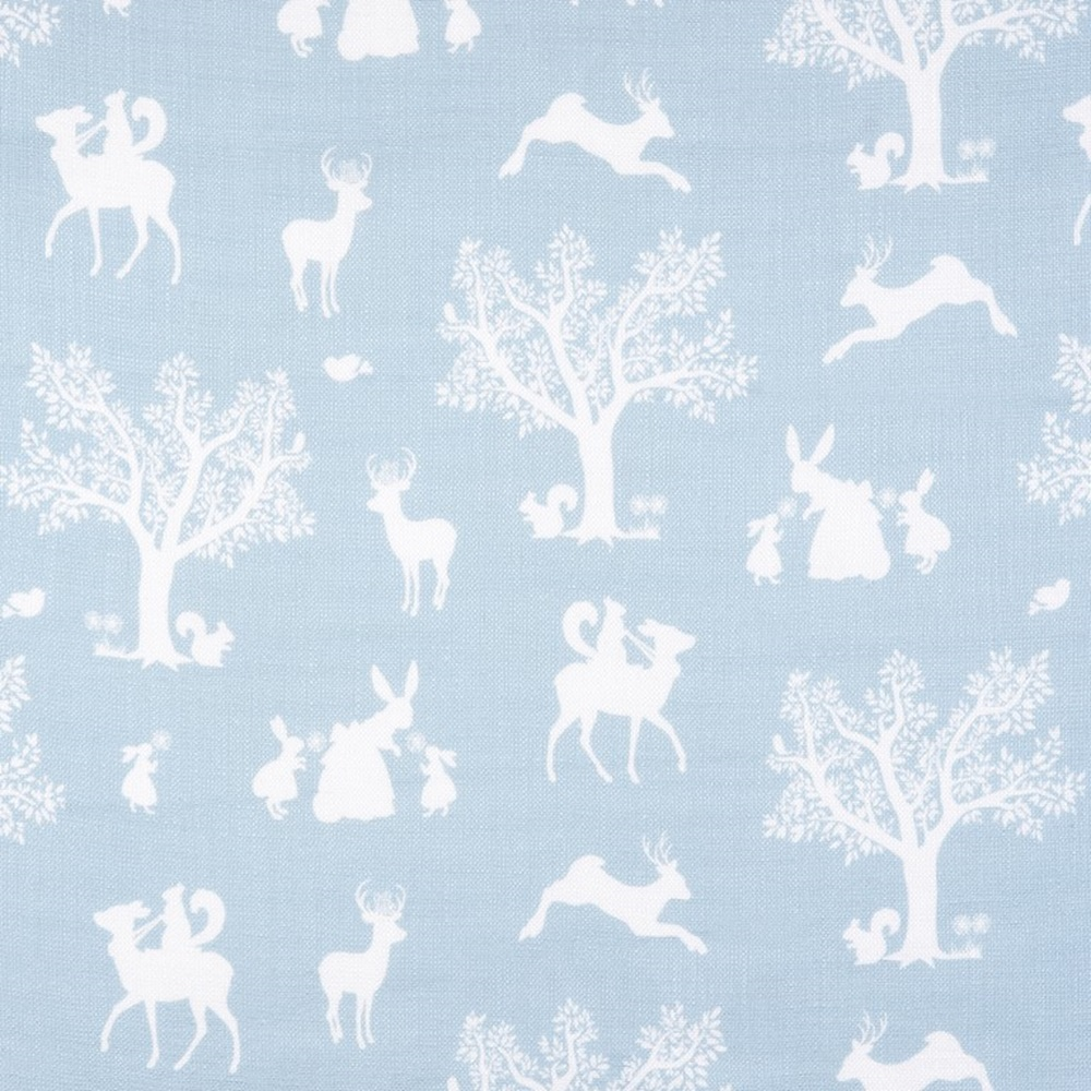Enchanted wood fabric in duck egg blue white metre for Bedroom inspiration duck egg blue
