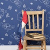 Boys Blue Wallpaper in Pirate Design