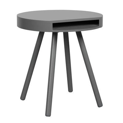 ZUIVER HIDE & SEEK LOUNGE SIDE TABLE WITH OPEN STORAGE in Grey