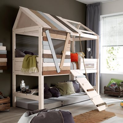 HIGH TREE HOUSE FEATURE BED with Rope Ladder