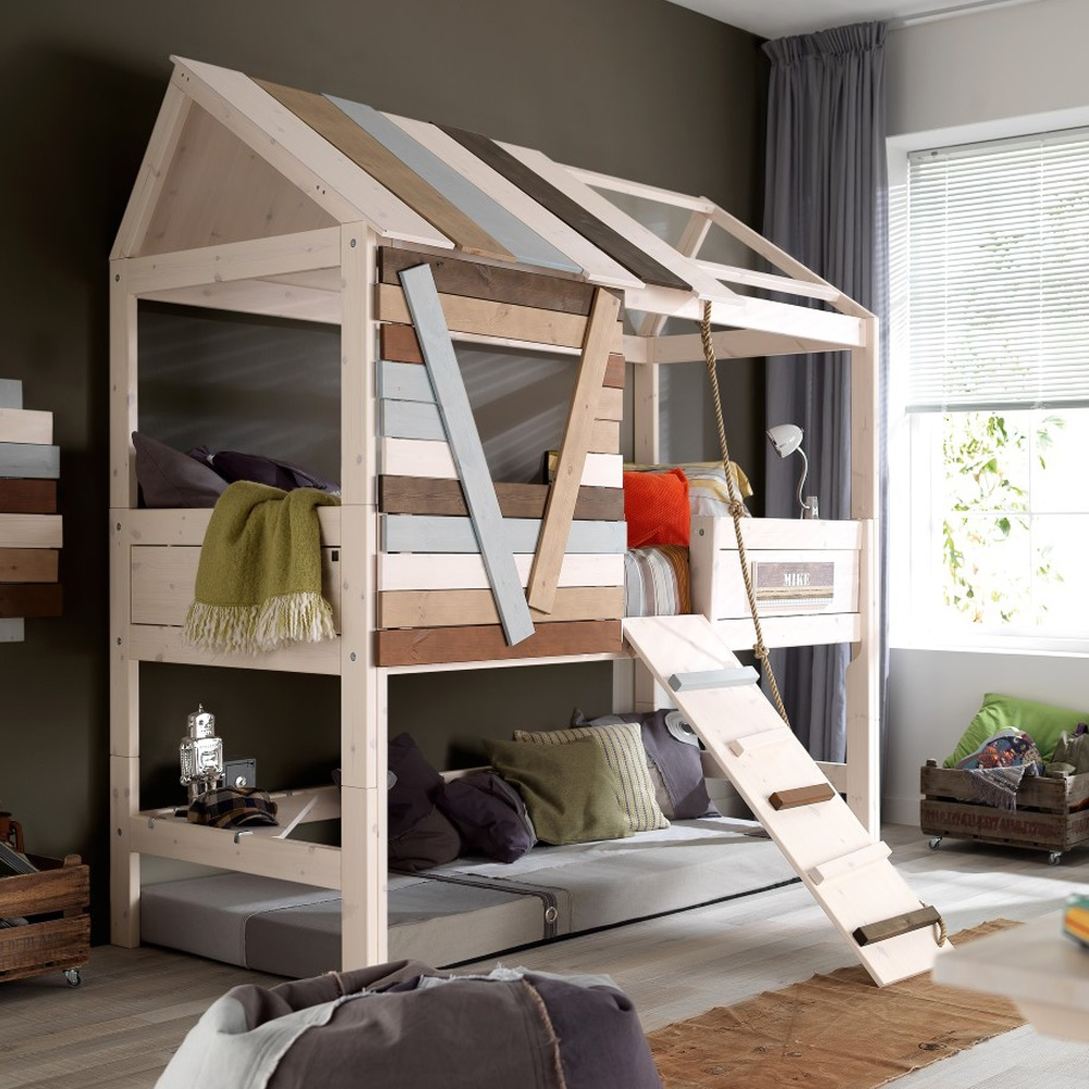 Awesome Beds: Lifetime High Treehouse Feature Bed With Rope Ladder