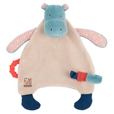 MOULIN ROTY CHILDRENS HIPPO PACIFIER COMFORTER