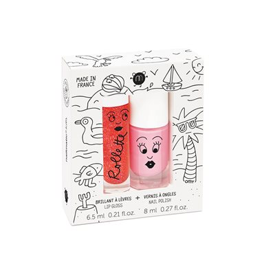 NAILMATIC KIDS WASH OFF NAIL VARNISH & LIP GLOSS SET - HOLIDAYS
