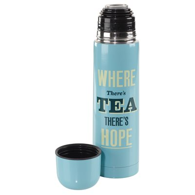 HOME FRONT FLASK Where Theres Tea Theres Hope