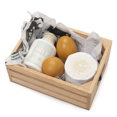 LE TOY VAN EGGS & DAIRY CRATE for Honeybee Market