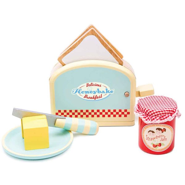 Le Toy Van Wooden Toaster Set with Pop Up Function