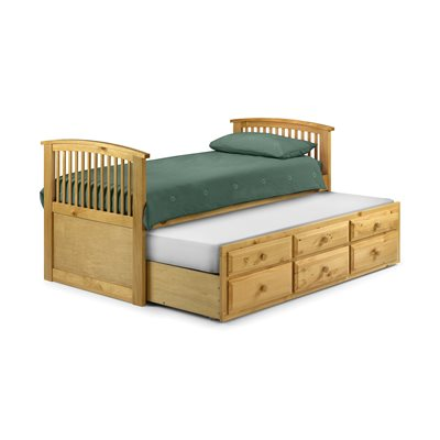 ANTIQUE PINE HORNBLOWER BED with Pullout Bed