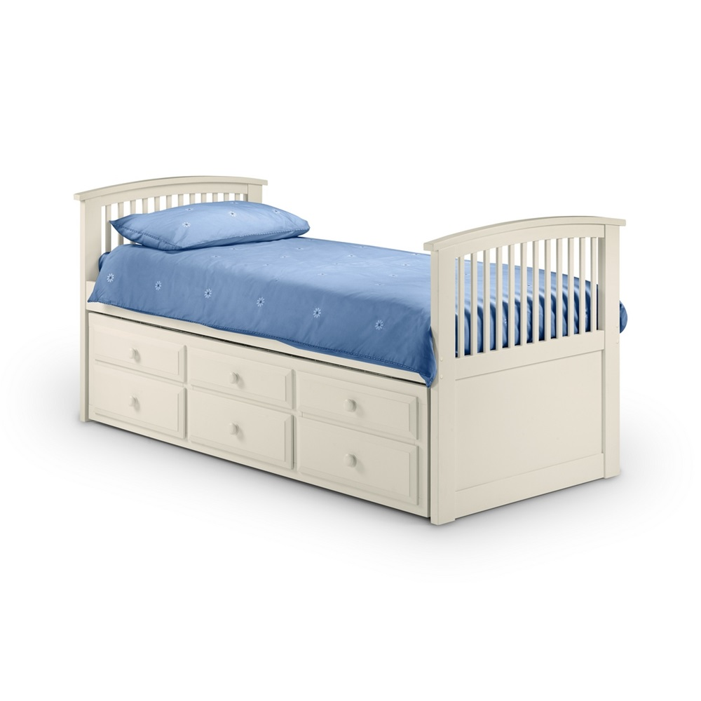 Julian Bowen Horner Bed In White With Pullout