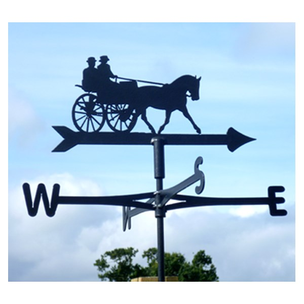 HORSE AND CARRIAGE WEATHER VANE in Black