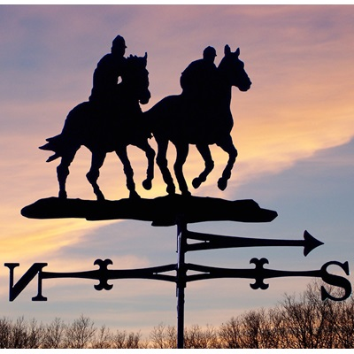 Weathervane in Horse Riders Upsides Design