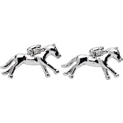 RACING HORSE & JOCKEY CUFFLINKS in Gift Box